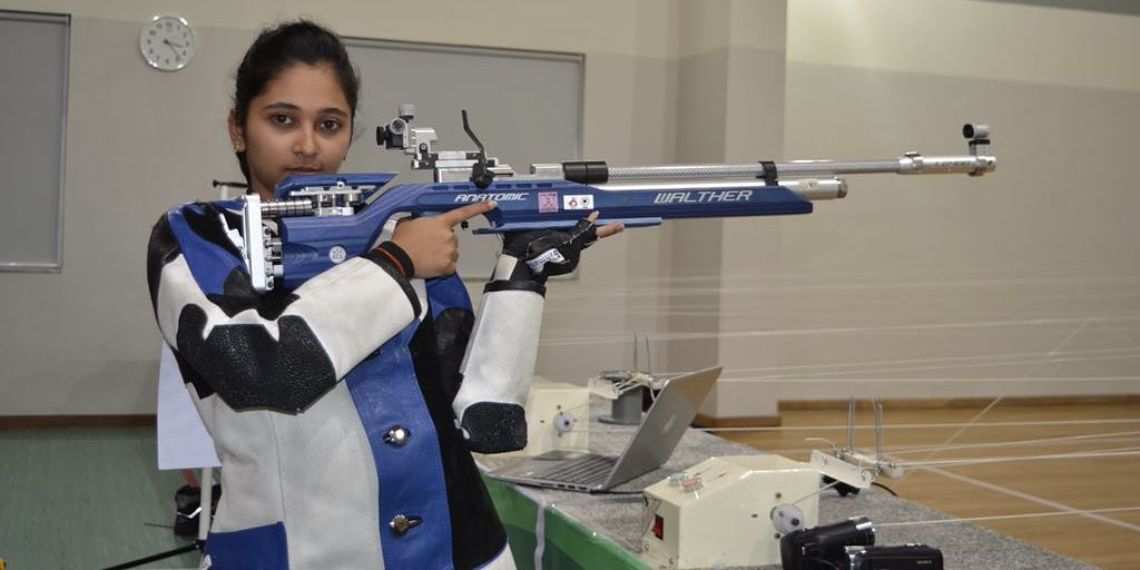 Mehuli bags two gold medals at KSS Memorial Shooting Championship
