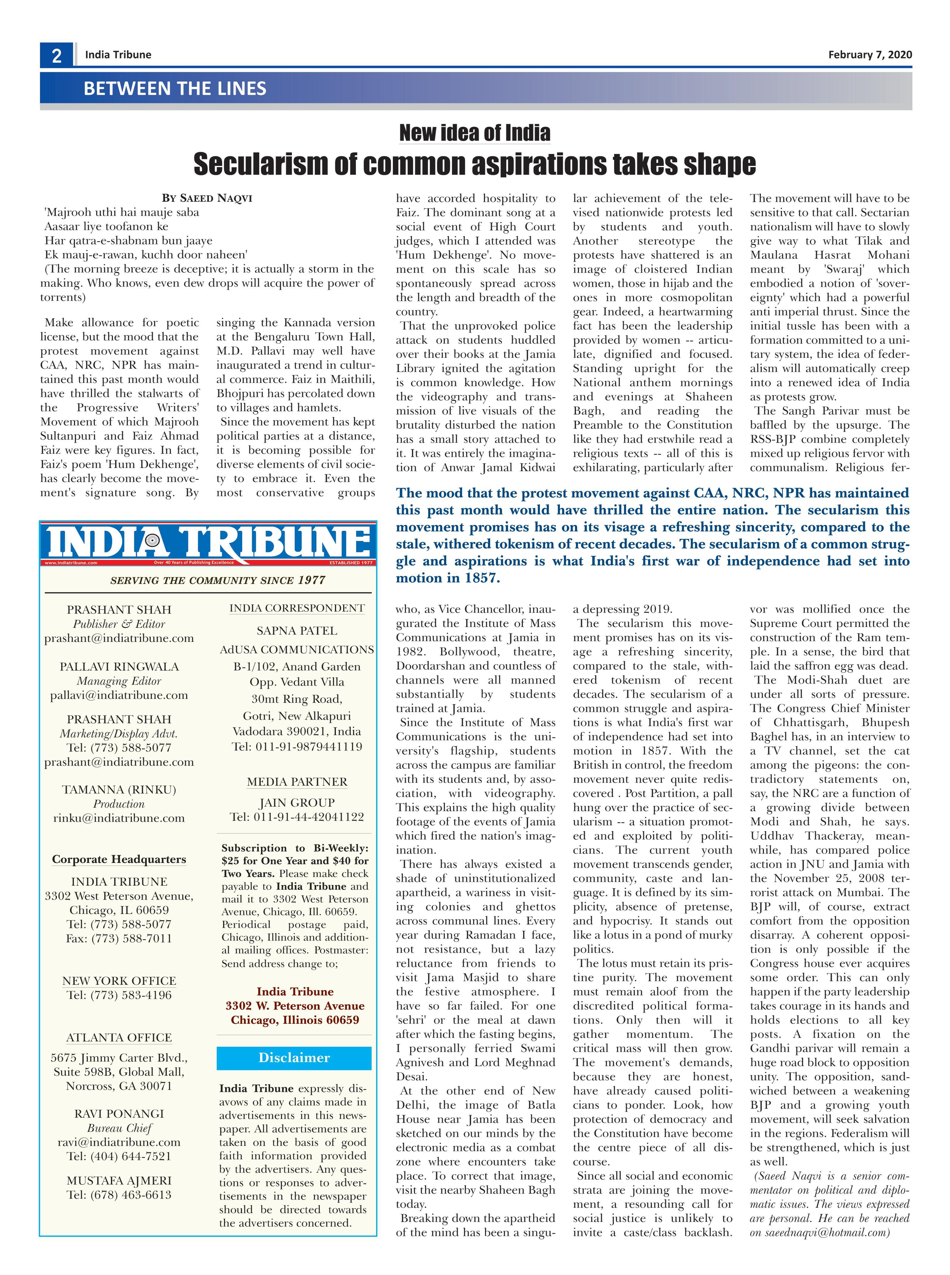 India Tribune Four